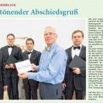 Verabschiedung Prof. Eberhard Passarge Vincent Strehlow